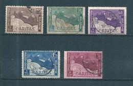 Belgique Timbres De 1927 N°249 A 253  Complet Oblitérés - 1922-1927 Houyoux