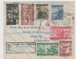 Pol119 A /POLEN -  Die 2. Ausgabe Der Exilregierung, Satzbrief Per Einschreiben, Zensiert - 1939-44: 2. WK