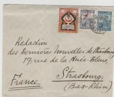 Tur154 / Bedarfsbrief Mit Kindersteuermarke 1928 Nach Strassburg (Frankreich) - 1921-... Republik