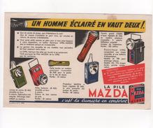 Buvard Mazda La Pile - Electricité & Gaz