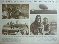 Gaby Morlay , Premiére Femme Pilote De Dirigeable 1919 - Documents Historiques