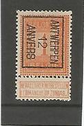 Preo / Voorafgestempelde Zegel N° 28 Antwerpen 12 Anvers - Typo Precancels 1906-12 (Coat Of Arms)