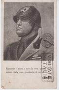 Mussolini  Cartolina Viaggiata 1939 - Other