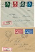 NORGE / NORWEGEN - 8 Belege Aus 1941-1943 -  Big Letter, Dispatch = 7,70 EURO (registered Mail) - Norwegen