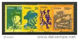 POLAND 1991 MICHEL NO: 3357-3360 USED /zx/ - 1944-.... Republik