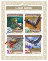 Togo 2016 National Birds Of Nicaragua Nigeria Puerto Rico Austria S/S TG16418a - Briefmarken