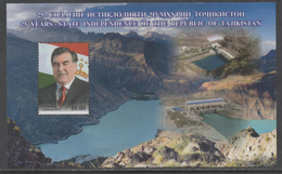 TAJIKISTAN, 2016, MNH,25TH ANNIVERSARY OF INDEPENDENCE, MOUNTAINS,  DAMS, FLAGS, S/SHEET - Other