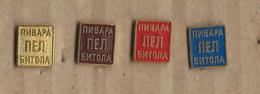 Lot - 4 Pins.Beer,Bier,Macedonia.Bitola Beer.PEL ( Pelagonia ) - Bierpins