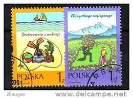 POLAND 2001 MICHEL No: 3887 - 3888 USED /zx/ - Used Stamps