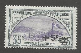 FRANCE - N°YT 166 NEUF* AVEC CHARNIERE - COTE YT : 16.50€ - 1922 - France