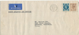 Great Britain Cover Sent Air Mail To USA London 6-6-1939  (the Cover Is Bended) - 1902-1951 (Kings)