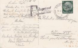4076w: Verkehrssicherheit- Motivstempel Hindenburg 1938, Seltener Motivbeleg - Unfälle Und Verkehrssicherheit