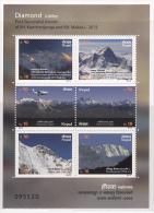 Nepal 2015 Himalaya Mountain Fly Ms Mint 1v MHN