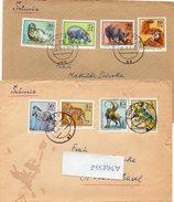 DDR  1975  MiNr.  2030/ 2037  Zootiere   Auf  Sammlerbrief In Die Schweiz - Storia Postale