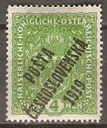 TCHECOSLOVAQUIE     -    1919 .    Y&T N° 60 * - Czechoslovakia
