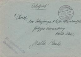 Feldpost WW2: To Luftnachrichtenschule In Halle/Saale P/m Georgsmarienhütte (Kr. Osnabrück) 2.10.1941 - Cover Only  (T3- - Militaria