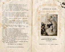 Cascia - Santino Antico Depliant CORONA DI ROSE DI SANTA RITA - N19 - Religione & Esoterismo