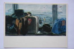 "AVIATION IN ART - ""Far Journey "" By Pimenoff - Plane  - Aerodrome - Airport - OLD USSR Postcard - 1946-....: Moderne"