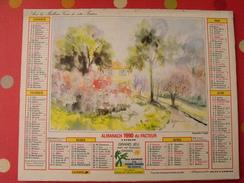 Calendrier Illustré En Carton De 1990. Almanach Des PTT Postes Facteur.aquarelle D'ogier - Calendars
