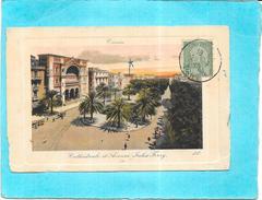 TUNIS - TUNISIE - CPA COLORISEE - Cathédrale Et Avenue Jules Ferry - ENCH1612/177 - - Tunesien