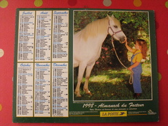 Calendrier Illustré En Carton De 1998. Almanach Des PTT Postes Facteur. Chien Cheval Fillette - Calendriers