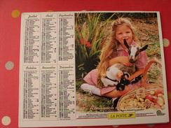 Calendrier Illustré En Carton De 1998. Almanach Des PTT Postes Facteur. Fikllette Chevreau Chien Berger - Calendriers