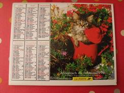 Calendrier Illustré En Carton De 1998. Almanach Des PTT Postes Facteur. Chien Chat - Calendriers