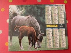 Calendrier Illustré En Carton De 1996. Almanach Des PTT Postes Facteur. Cheval Poulain - Calendriers