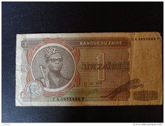 Zaire : Billet De 1 Zaires 1979 - Zaïre