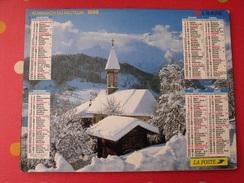Calendrier Illustré En Carton De 1996. Almanach Des PTT Postes Facteur. Montagne - Calendriers