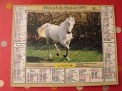 Calendrier Illustré En Carton De 1995. Almanach Des PTT Postes Facteur. Cheval Poulain - Calendriers