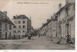 CPA  - COUSSAC BONNEVAL - RUE PRINCIPALE - EPICERIE CAFE BORDAS - L'HIRONDELLE - Frankrijk