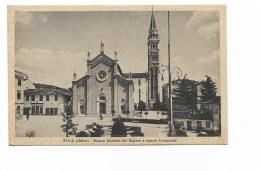 BUIA UDINE NUOVA FACCIATA DEL DUOMO E NUOVO CAMPANILE 1947 VIAGGIATA FP - Udine