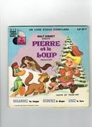 PIERRE ET LE LOUP PROKOFIEFF 1970 WALT DISNEY LIVRET DE 24 PAGES ILLUSTREES DISQUE 33 TOURS HAROLD KAY - Disques & CD