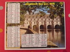 Calendrier Illustré En Carton De 1978. Almanach Des PTT Postes Facteur. Chateau Chenonceaux - Calendars