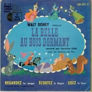 LA BELLE AU BOIS DORMANT 1968 WALT DISNEY LIVRET DE 24 PAGES ILLUSTREES DISQUE 33 TOURS CAROLINE CLER CHANSONS DU FILM - Disques & CD