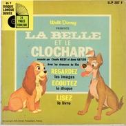 LA BELLE ET LE CLOCHARD WALT DISNEY LIVRET DE 24 PAGES ILLUSTREES DISQUE 45 TOURS CLAUDE NICOT ANNA GAYLOR - Disques & CD