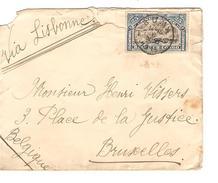 TP 57 S/L.c.Boma 6/8/1914 Via Lisbonne Expé.Bertrand V.Bruxelles Mr Vissers Bonne Date PR3815