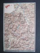 AK SALZBURG KUCHL HALLEIN WERFEN Ca.1900 Landkarte ///  D*21920 - Salzburg Stadt