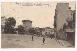 9136. CPA PARIS. MONTMARTRE. LA PLACE RAVIGNAN ET L'ANCIEN RESERVOIR DE MONTMARTRE. 1923 - Arrondissement: 18