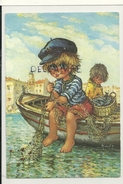"Big Eyes Boy. Petit Marin Qui Coud Son Filet. ""Les Petits""N° 120 Par Michel Thomas. 1988 - Thomas"