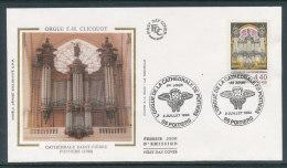 1994 Env 1er Jour Orgue De La Cathédrale De Poitiers - 1990-1999