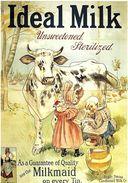 PUBLICITE EDITIONS CLOUET  10523 IDEAL MILK  LAIT VACHE ENFANTS FILLETTES - Pubblicitari