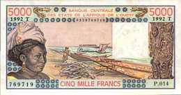 TOGO 5000 FRANCS De 1992   Pick 808m  XF/SPL - Togo