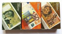 LOT DE TROIS 3 BOITES D ALLUMETTES FEUDOR BILLET DE 100 & 500 FRANCS & 50 EUROS . MONNAIE ARGENT - Non Classés