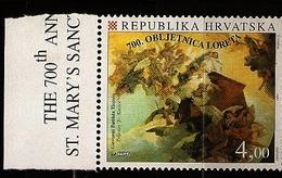 Croatie Hrvatska 1994 N° 278 ** Vierge, Lorette, Italie, Tableau, Giovanni Battista Tiepolo, Musique, Cor, Ange, Maison - Croazia