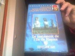 Le Testament De L'île De Pâques [VHS] Cousteau Documentaire - Videocesettes VHS