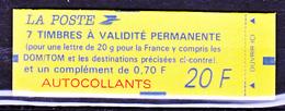 France 1505 Carnet Marianne De Briat Autocollant Tvp Et 70 C Fermé Neuf ** TB MNH  Sin Charnela Cote 40 - Usage Courant