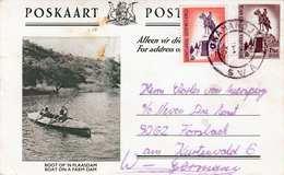 AUSTRALIEN - 2 Fach Frankierung Auf Bildpostkarte BOAT ON A FARM DAM, Gel.nach Forsbach - Australien