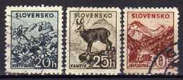 Slowakei / Slovaki, 1940, Mi 73-75 Y, Gestempelt [181216IV] - Ungebraucht